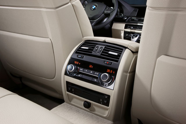 bmw serie 5 berline console arriere