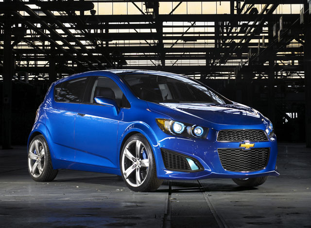 chevrolet aveo rs show car face
