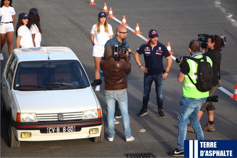 se bastien loeb en interview tv avec la 205 gti